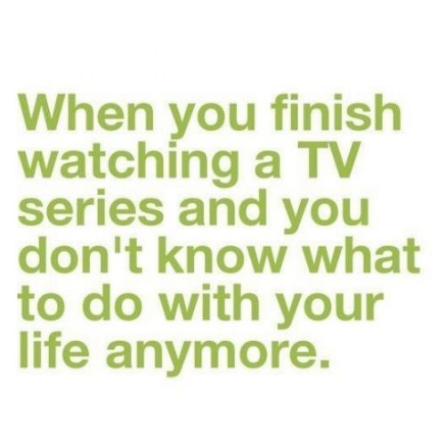 This is me whenever Grey's ends, or Jersey Shore, Teen Mom, Big Brother, Castle or any of my shows. Haha. :):