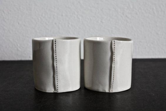2 mini cups. by raedunn on Etsy