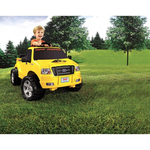 Fisher-Price Power Wheels Lil' Ford F-150 6-Volt Battery-Powered Ride-On, Yellow