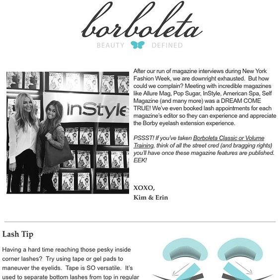 Eyelash Extension Borboleta Beauty Monthly News Letter