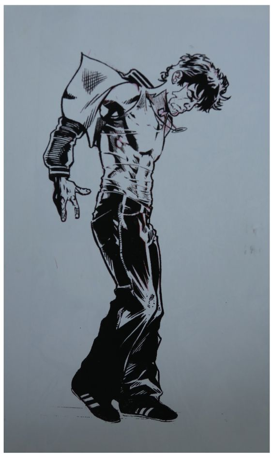 Pencil sketch and character design by David De Bartolome for the graphic novel Ordinary Heroes, 2004.