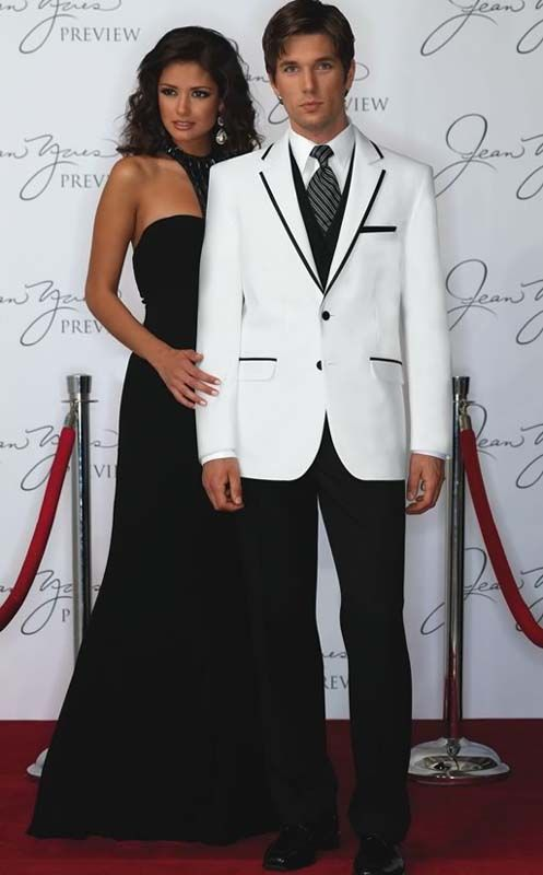 Magnificent White And Black Prom Suit Photos - Wedding Dress Ideas ...