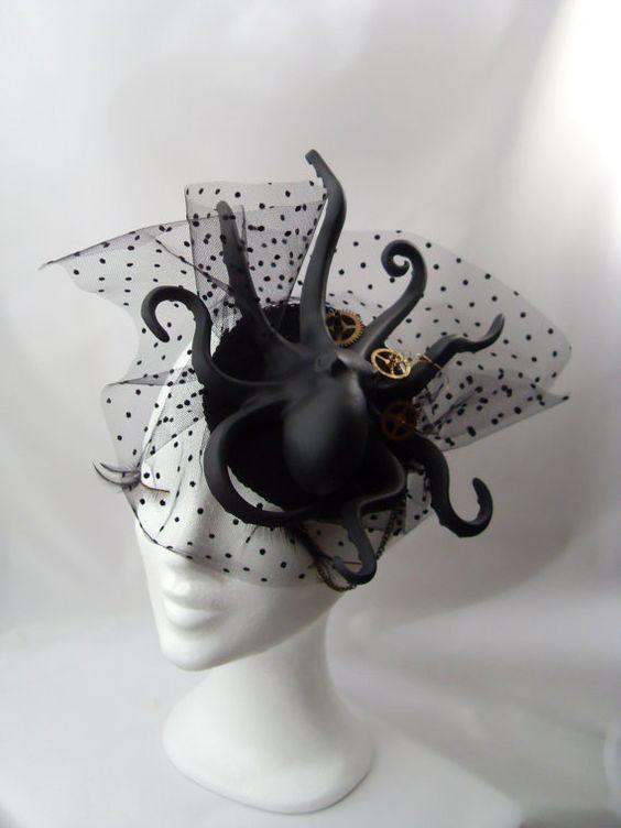 Oktopus Tentacle Steampunk Gothik Headpiece von KopfTraeume auf Etsy