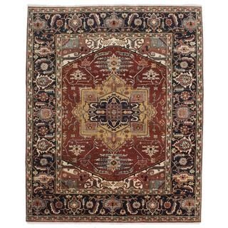 ecarpetgallery Hand-knotted Serapi Heritage Brown Wool Rug (7'11 x 9'8) | Overstock.com Shopping - The Best Deals on One Of A Kind Rugs