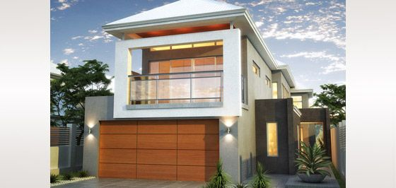Home design home and australia on pinterest 2 storey narrow lot homes