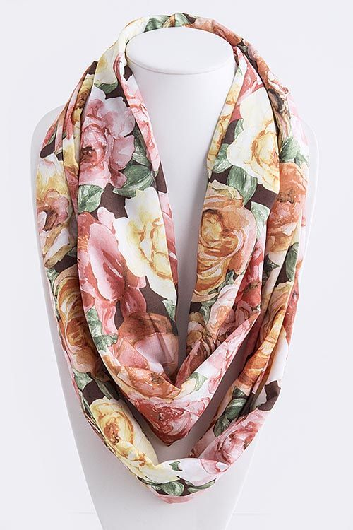 beautiful shabby chic and infinity scarfs on