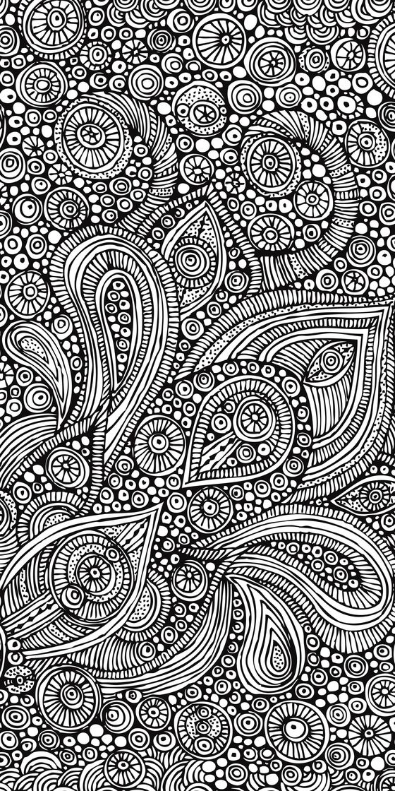 whirly circle and paisley doodle