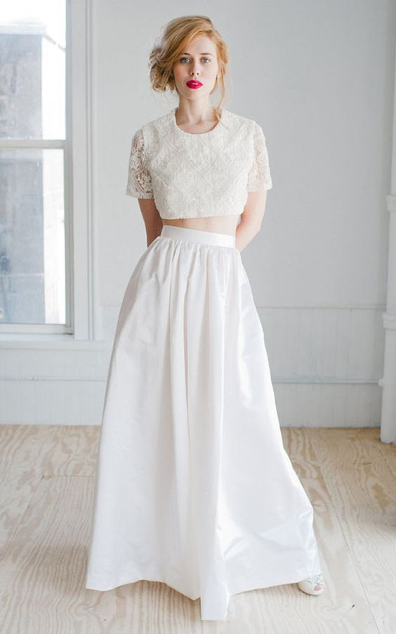 Two piece wedding dress Wedding trends and Two pieces on Pinterest