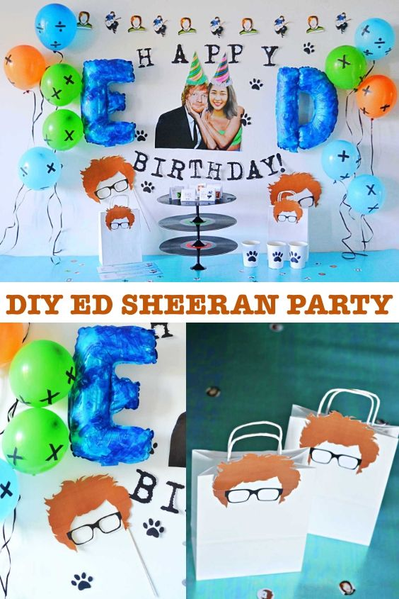 Diy Ed Sheeran Party Ed Sheeran Ed Sheeran Lyrics Party