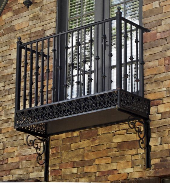 Wrought iron Balconies. www.deciron.com this is their wrought iron ecuadorian style balcony, perfect for home projects!
