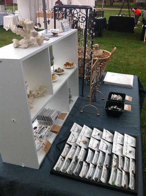 cute jewelry display using simple white shelving