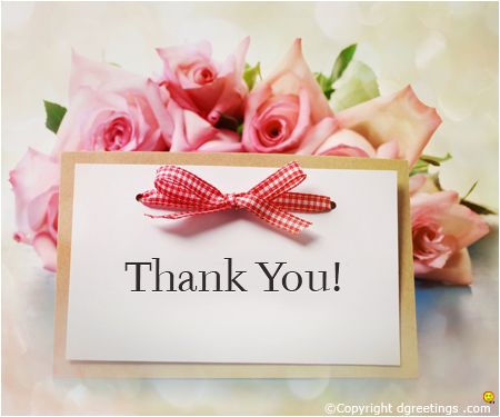 Beautiful Thank you note.:
