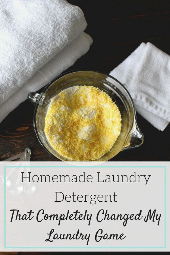 Easy homemade laundry detergent recipe; Save money with this powdered laundry…
