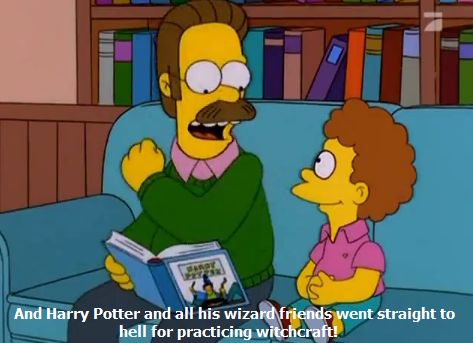 Ned Flanders is clearly not a Potterhead