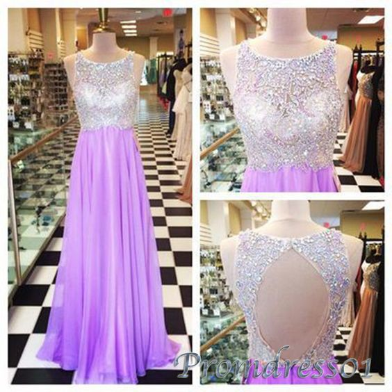 #promdress01 prom dresses , 2015 open back purple chiffon rhinestone long A-line prom dress, ball gown, occasion dress #promdress -> www.promdress01.c... #coniefox #2016prom