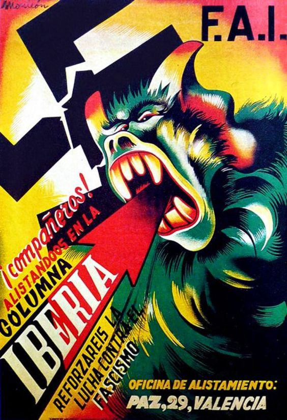 F.A.I. companeros! Enlisted in column Iberia to reinforce fighting the Fascism! || Spanish Civil War 1936-1939