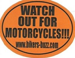 FREE WATCH OUT FOR MOTORCYCLES BUMPER STICKER. Easy form. | Free ...