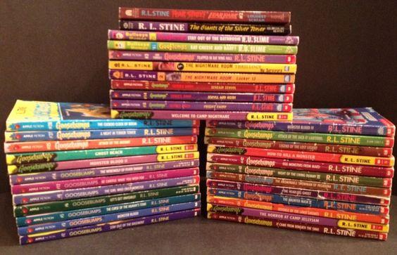 Lot of 9 Goosebumps Books - Original Series, Series 2000, Give Yourself, TV