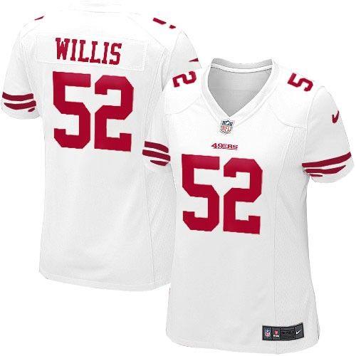 Nike Elite Womens San Francisco 49ers http://#52 Patrick Willis White Color NFL Jersey$109.99