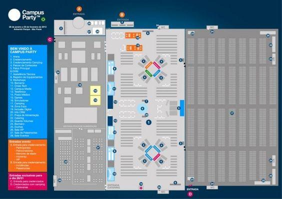 #vivapositivamente @Tecnoblog: Mapa da Campus Party 2013