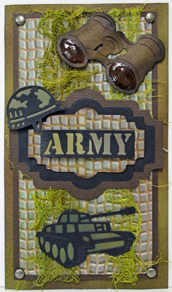 #cheeryld  Hello and Happy Friday! Corina here with you today to share my Army card that I created using some of the new Cheery Lynn Design Dies from the October 15th release! Dies Used Gauze Border - B305 I Spy Army (Set of 5) Sentiment Tag 2 (Set of 3) - B425 www.CheeryLynnDesigns.com