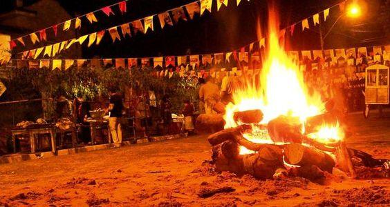 Fogueira é um símbolo clássico da noite de São João