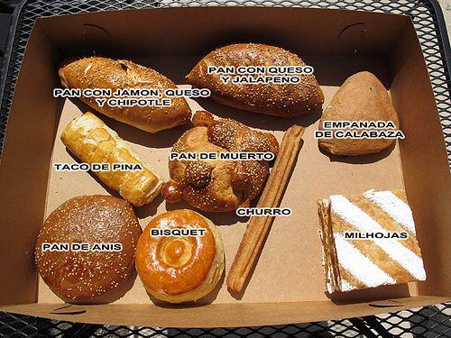 nombres de panes dulces