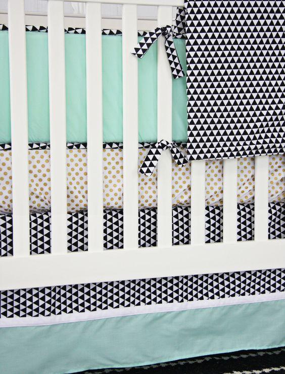Caden Lane Baby Bedding - Eclectic Mint Baby Bedding, $192.00 (http://cadenlane.com/eclectic-mint-baby-bedding/)