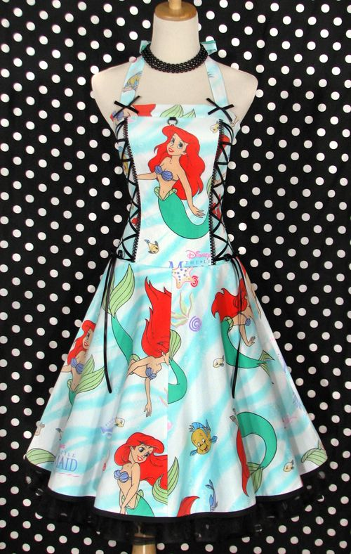 Little Mermaid Dress (looks the bed sheets I had as a kid) ~ G