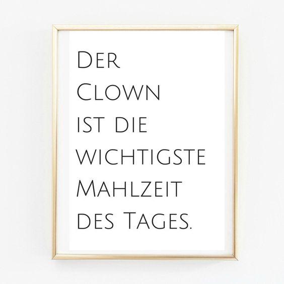 Digitaldruck - Poster A4 Clown. Küchenposter - ein Designerstück von Pap-Seligkeiten bei DaWanda