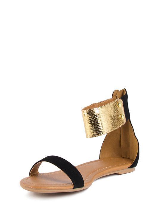 Golden Ankle Sandals