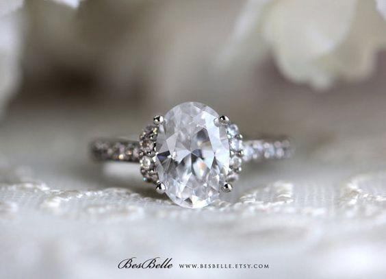 3.0 ct. Center Art Deco Ring-Art Deco Engagement by Besbelle