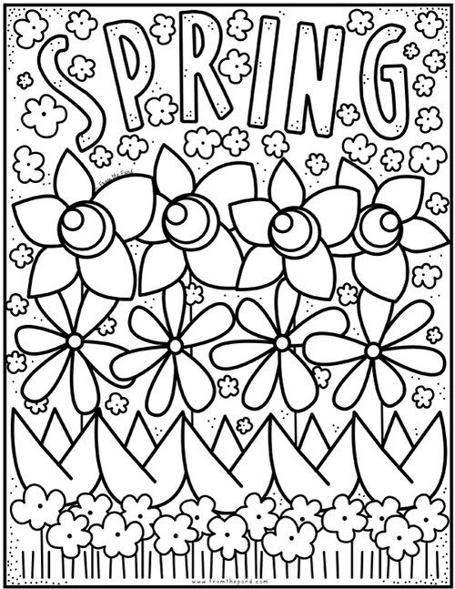 Coloring Club From The Pond In 2020 Spring Coloring Pages