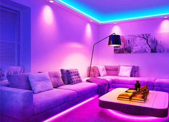 Novostella 40ft 12m Rgb Strip Lights Color Changing Gaming Room Strip Lights Tiktok Light Strip In 2020 Led Lighting Bedroom Room Ideas Bedroom Chill Room