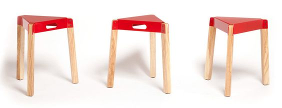 red stool would be cute in a corner