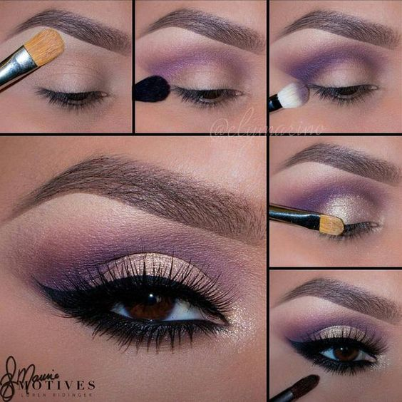 """1.Begin by applying """"Ivory"""" onto the brow bone and blend downward! (This will help the crease color blend nicely).  2.Taking """"Revenge"""" blend slightly above the crease.  3.Taking """"Obsession"""" apply in the crease.  4.Using """"Allure"""" pigment pat onto the entire lid and inner corner of the eyes to add our highlight.  5.Add your wing using """"LBD"""" gel liner! With the same liner line the water line and blend out using """"Onyx""""."""