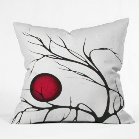 Amazon.com: DENY Designs Madart Together as One Throw Pillow, 20-Inch by 20-Inch: Home & Kitchen