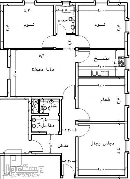 تصميم بناء منزل 150 متر House Layout Plans Town House Floor Plan Family House Plans