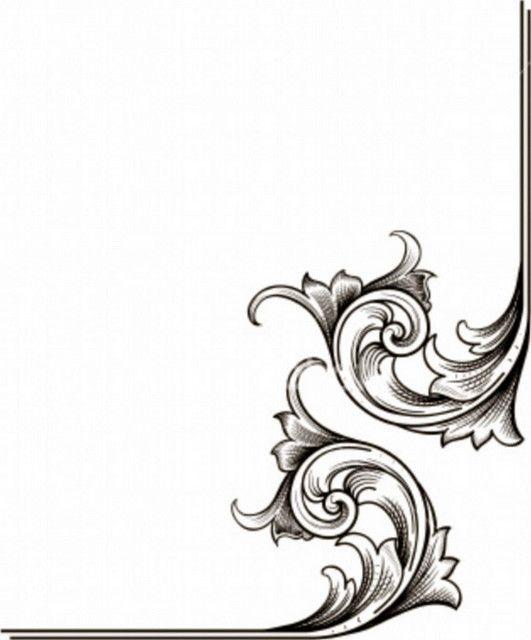 Corner Scroll Designs: Wedding, Design And Scroll Design On Pinterest