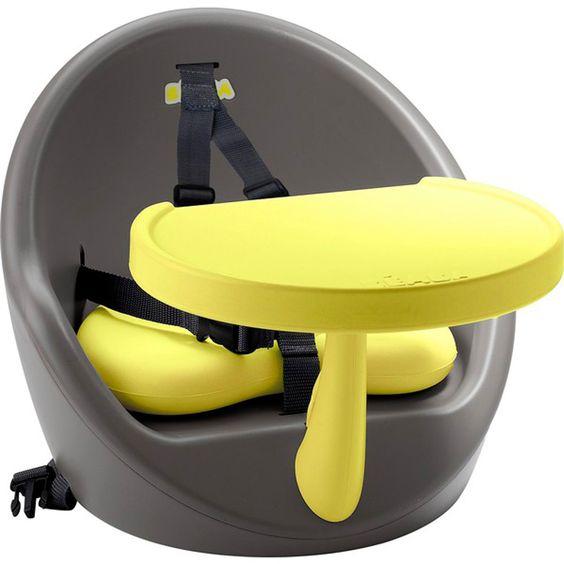 Rehausseur bébé babyboost gris jaune au meilleur prix chez allobébé