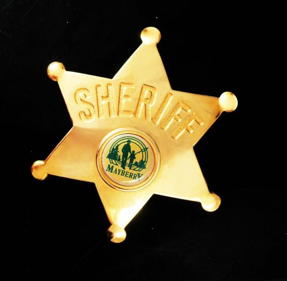 Who doesnt remember Andy of Mayberry....? A part of most adults past,this neat sheriff star has the Mayberry silhouette of Andy and Opie fishing. And remember, a personal well thought out gift shows you took the time to care about that special person in your life. Our items are classic, sometimes unusual and vintage and sometimes a little bizarre. Whether it is a memory from their past or something that reminds you of how special they are, purchasing from us is a unique idea that you can't…