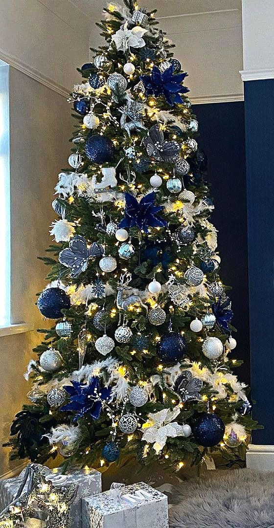 2020 New Year Tree Decoration 100 Different Design Suggestions For Those Looking For Ideas Page 95 Of 100 Womens Ideas Beautiful Christmas Trees Decorated Silver Christmas Tree Decorations Blue Christmas Decor