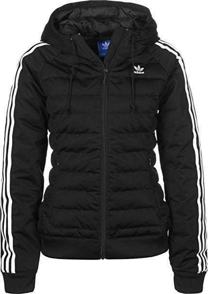 Adidas Damen Slim Jacke, schwarz (Black), 34 #damen