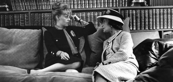 Jeanne Moreau and Gabrielle Chanel