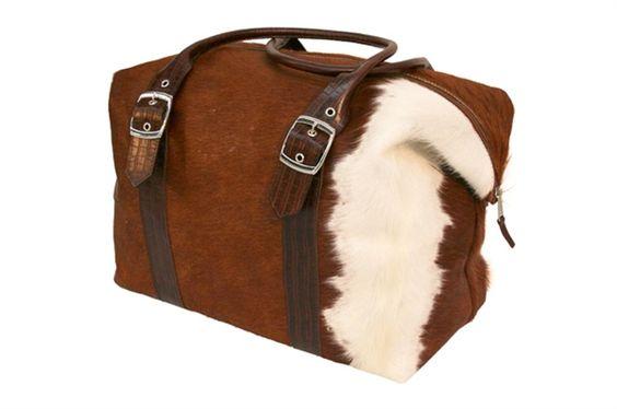 Jimmy Possum. Cow Hide Bag - Brown