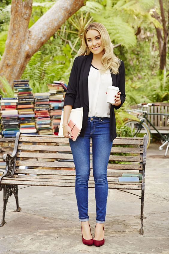 Lauren Conrad wearing head to toe LC Lauren Conrad for Kohl's {the perfect back to school outfit!}