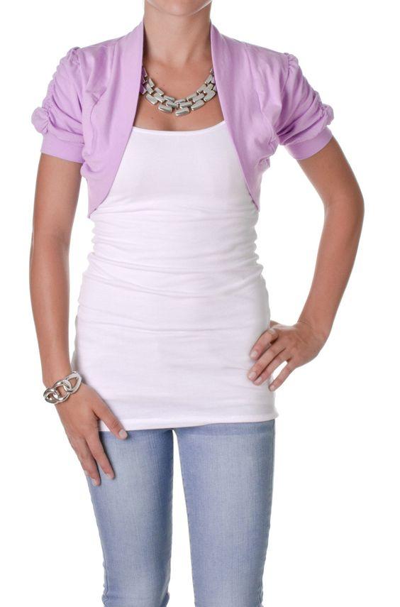 Short Sleeve Cropped Bolero Cardigan