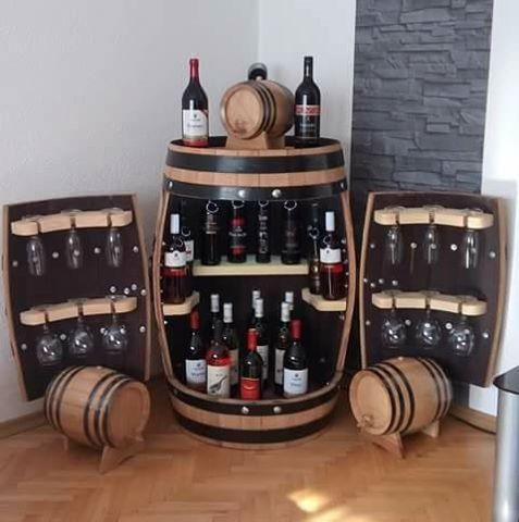 Mini Bar Pentru Sticle De Vin Si Pahare Sticle De Vin Lemn Sticlă