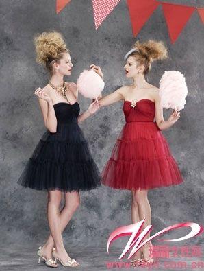 hübsches Brautjungfernkleid