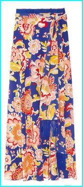 Tory Burch- Marcela printed silk wrap maxi skirt
